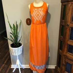 🍊Gianni Bini Orange Maxi Dress XS